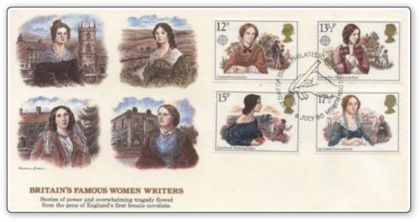 Britan's Famous #Woman #Writers #stamps