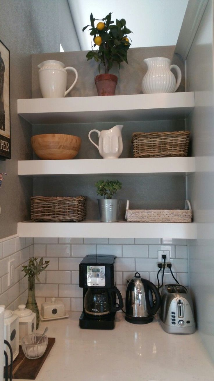 farm kitchen with floating shelves floatingshelvesbathroomsink floatingshelvesideasdarkwood on kitchen floating shelves id=54591