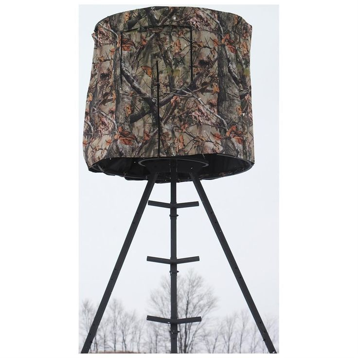 Blind and Tree Stand Accessories 177912: Hunting Tripod Stand Universal Round Camo Blind Concealment Big Game Deer Turkey BUY IT NOW ONLY: $79.99