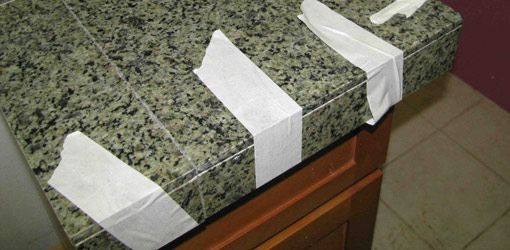 DIY Granite tile countertop. Tomorrow's project.