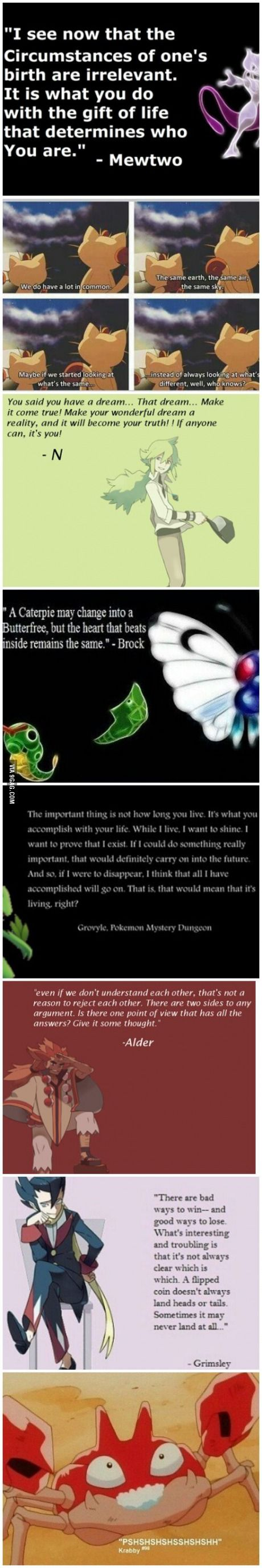 8 Beautiful Pokemon Quotes holy shit so philosophical