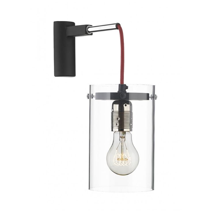 David Hunt Lighting CIN0725 Cincinatti Single Wall Light with Red Braided Cord
