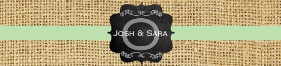 Rustic Chalk Wedding Water Bottle Label by ChurchHillCharm, $18.00