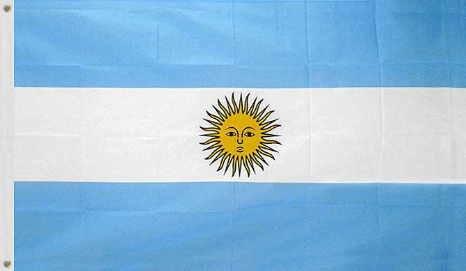 3X5 ARGENTINA FLAG SOUTH AMERICAN ARGENTINIAN