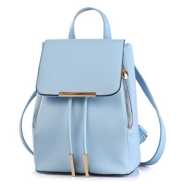 6b798f7e06d68 Cover Metall Einfarbig Satchel Blau (29  ) ❤ Gefallen an Polyvore mit  Taschen