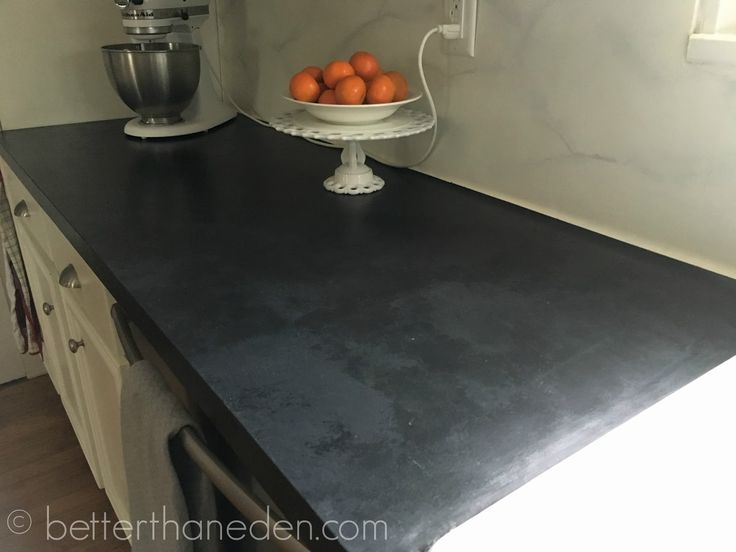 Better Than Eden A Faux Soapstone Painted Countertop