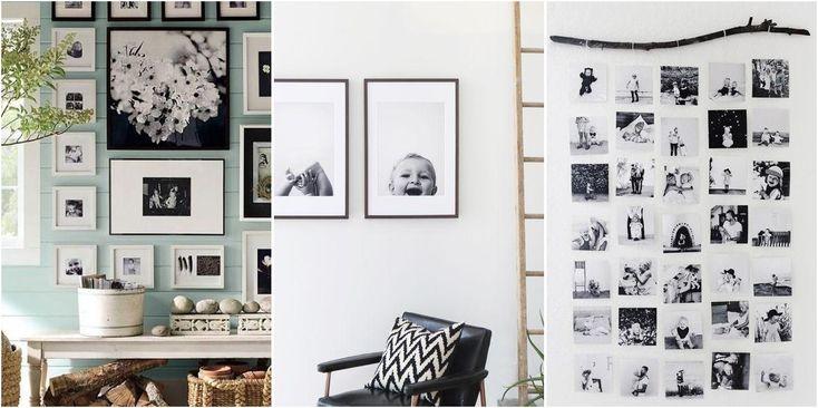 Te contamos 9 ideas geniales para vestir tus paredes y poner las mejores fotos familiares.