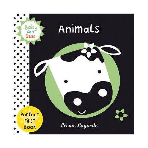 Animals (Baby Can See). El perro dice, guau, guau. El gato dice miau, miau. Los más pequeños disfrutarán todos los simpáticos animales en este libro. Con las cubiertas suaves y acolchadas, es un libro perfecto para que los bebés jueguen y aprendan .