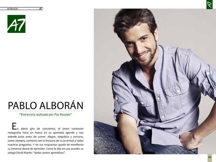 Revista Actualidad7: Entrevista a Pablo Alborán.