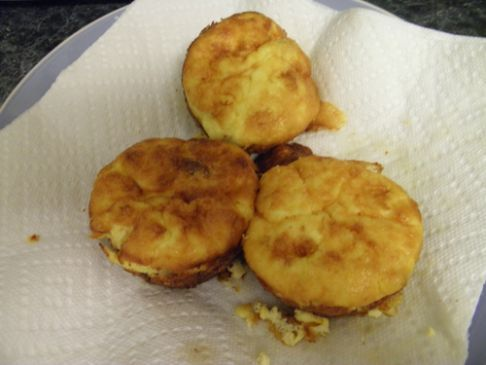Egg Muffin Recipe -  I do add all the ingredients together (including cheese) and any other favorite items you would like. (onion, mushrooms, peppers, etc)
