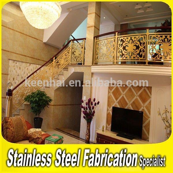 fijn houtsnijwerk kunst ontwerp trap balustrade voor trap leuning aluminium spiraal