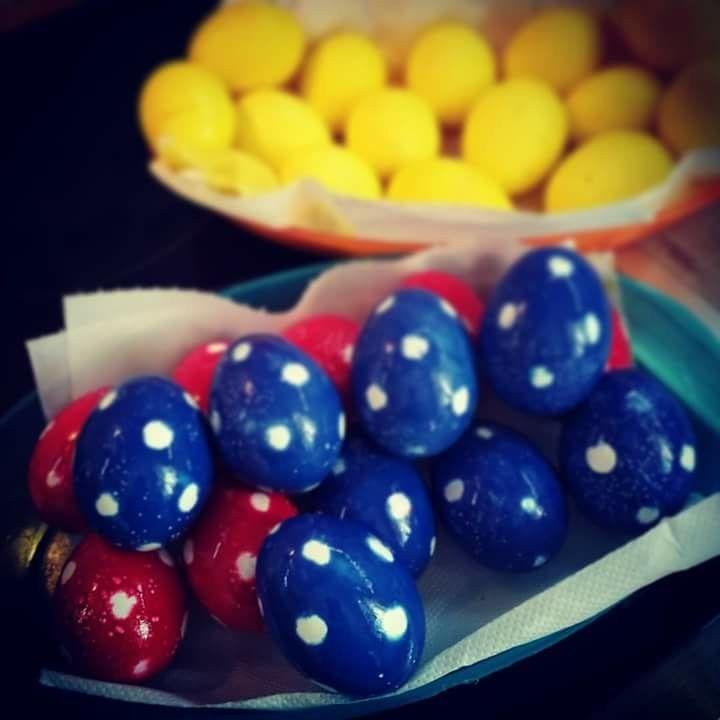Πασχαλινά αυγά πουά 🥚 (Easter eggs)
