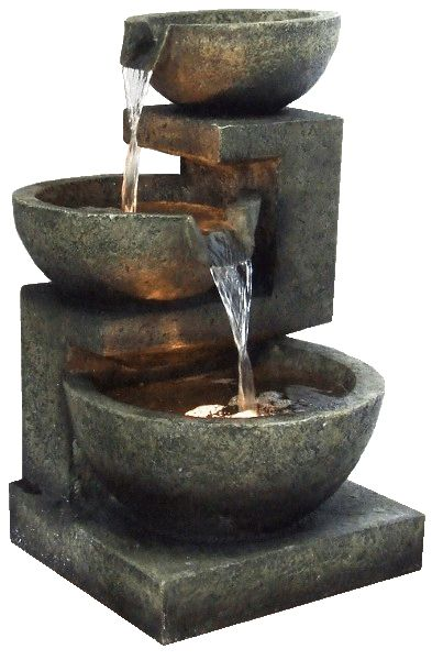 Fountain interior gif purifier with a water fountain for Bombas de agua para fuentes de jardin