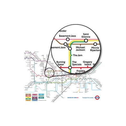 Music on the Tube Map Poster | London Transport Museum Shop