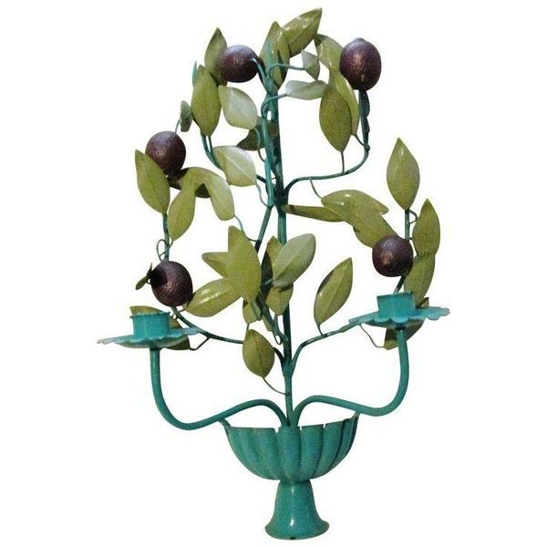 Italian Tole Plum and Teal Candle Sconce ($560) ❤ liked on Polyvore featuring home, home decor, candles & candleholders, decor, italian home decor, teal home decor, teal candles, teal home accessories and plum candles