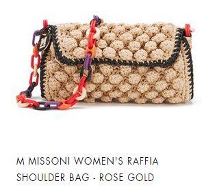 M MISSONI RAFFIA SHOULDER BAG