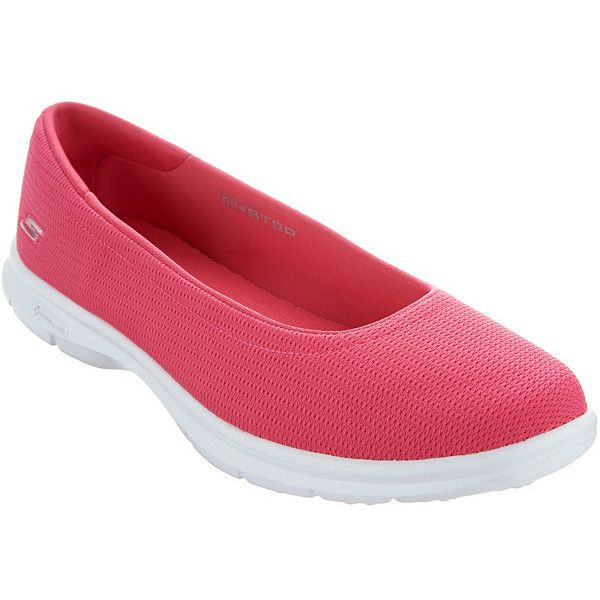 Skechers GO STEP Mesh Ballet Slip-On Shoes Luxe (£43) ❤ liked on Polyvore featuring shoes, pull on shoes, skechers footwear, sports footwear, mesh shoes and sport shoes