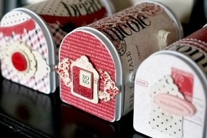 simply handmade  altered mailboxes for valentines~!