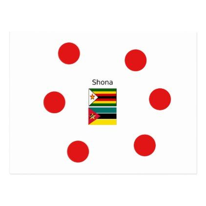 Shona Language And Zimbabwe and Mozambique Flags Postcard - postcard post card postcards unique diy cyo customize personalize