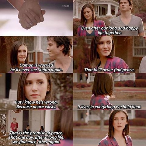 "359 To se mi líbí, 6 komentářů – - the vampire diaries ❤️- (@thesalvatorediarys) na Instagramu: ""Fc: 2,902 {8x16}  This scene made me so happy. Elena deserved to find peace with her family and I…"""