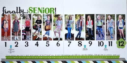 This is a great idea for Seniors - to take pictures each year and provide this for a high school senior gift | Jen Vazquez Photography. Jenvazquez.com This idea found on http://www.onceuponahive.com/blog/2013/09/scrapbooking-finallya-senior-revised.html?pintix=1