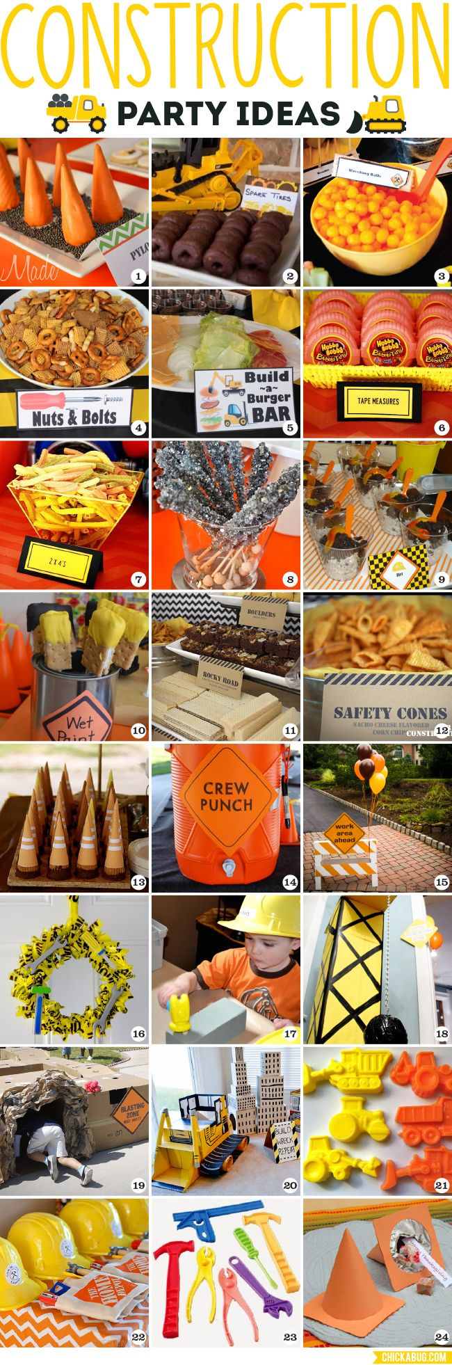 Construction party ideas inspirations