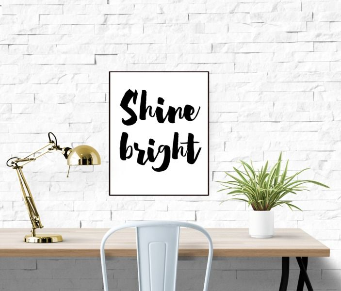 Printable Wall Art Print Shine Bright Quote Art from Paperblooming by DaWanda.com