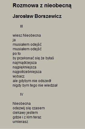 Jarosław Borszewicz - Rozmowa z nieobecną