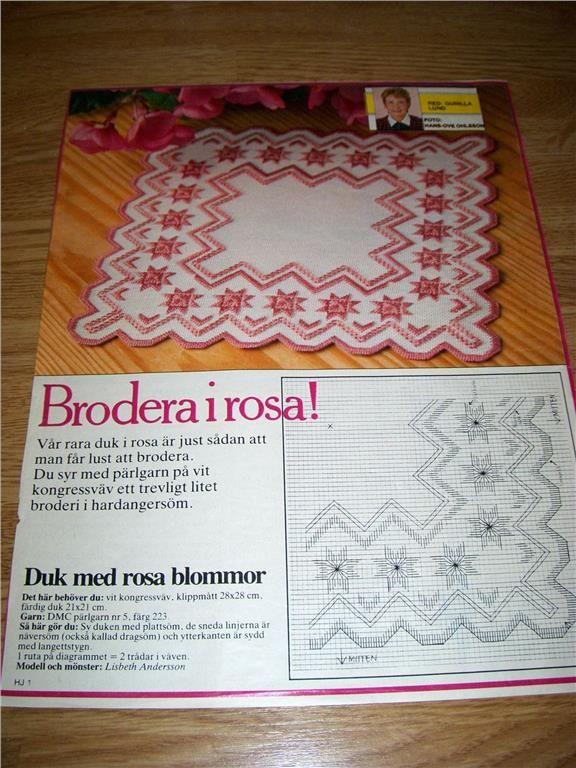 Broderimönster till duk på Tradera.com - Broderimönster för sömnad och