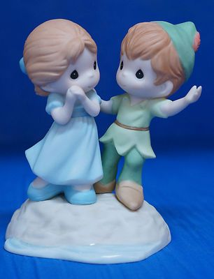 Disney Precious Moments Figurine Peter Pan Wendy Never Lost with You 104010 | eBay