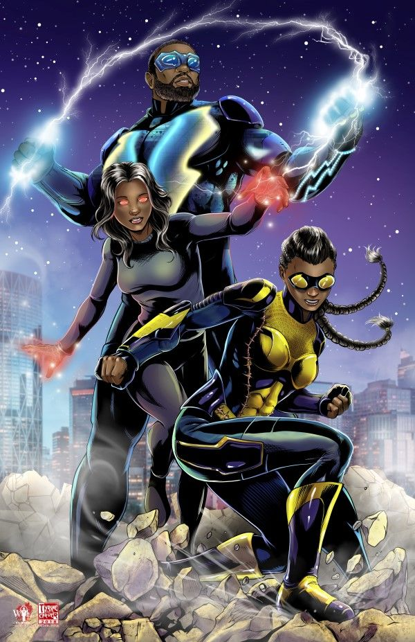 Black Lightning Superhero Blackness Black Comics Dc