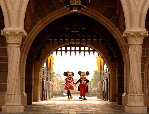 Mickey and Minnie. I was obsessed with Minnie as a kid