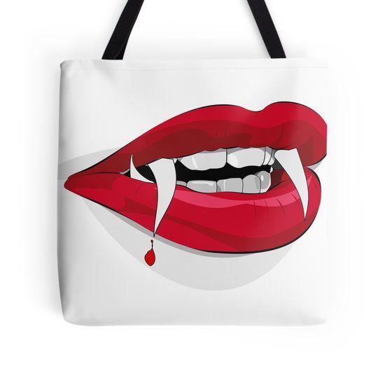Halloween teeth art red