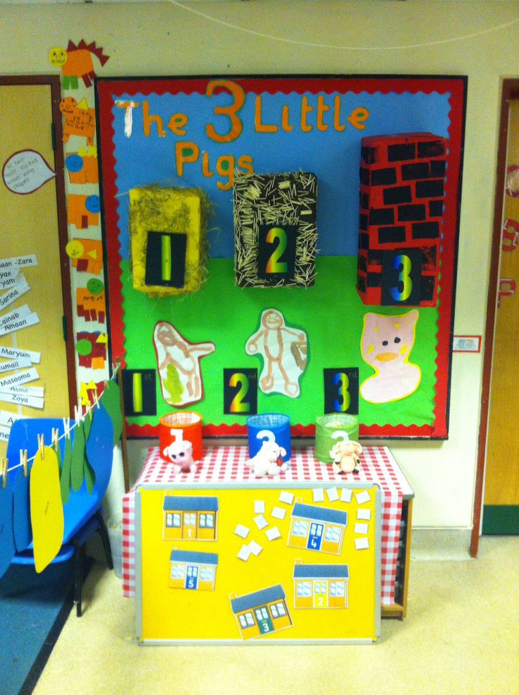 The Three Little Pigs - Numeracy display board