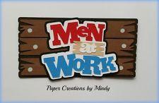 craftecafe Минди мужчины работают название premade шитье по бумаге для страницы для скрапбукинга альбом
