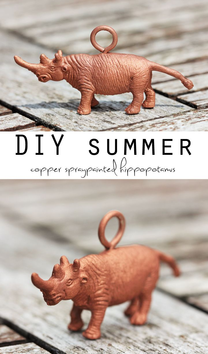DIY Copper spraypainted hippopotamus MY FAVORITE WORD EVER