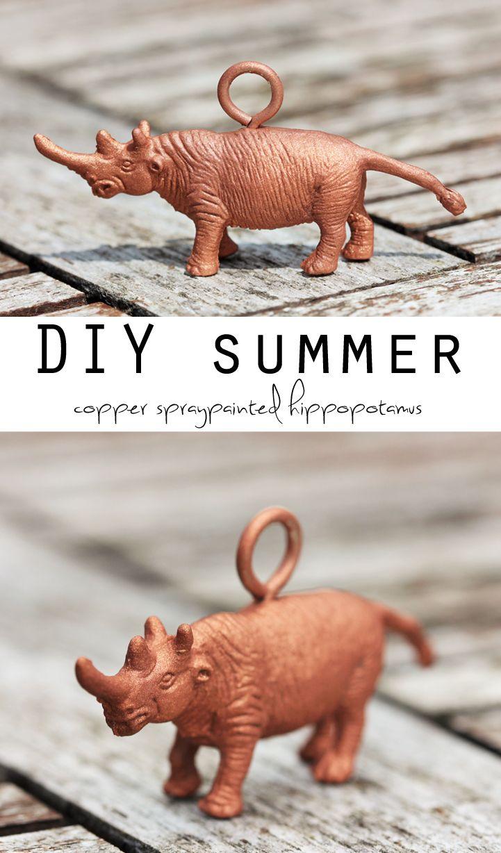 DIY Copper spraypainted hippopotamus MY FAVORITE WORD EVER