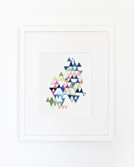 Store   Six By Eight   TRIANGLE & DOTS IN BLUE AND MAGENTA