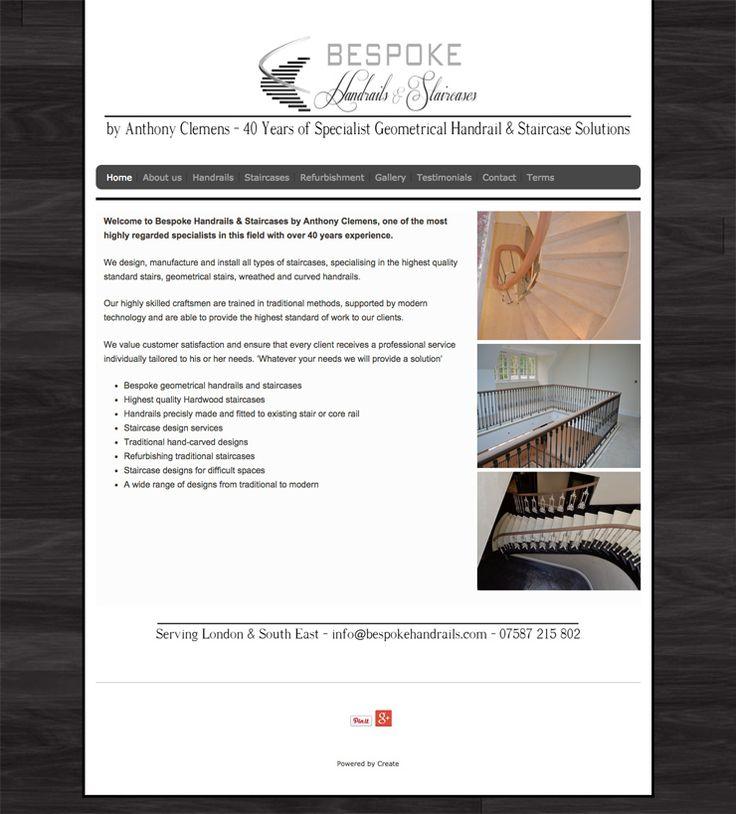 Bespoke Handrails website using the Velvet template! Great #responsive #website http://www.bespokehandrails.com/