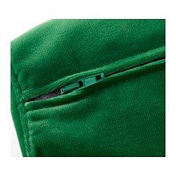 IKEA - STOCKHOLM, Canapé 3 places, Sandbacka vert, , La housse est facile à entretenir car elle est amovible et se nettoie à sec.Le velours est une matière douce et luxueuse qui résiste à l'abrasion. Facile à entretenir avec la brosse souple de l'aspirateur.Les coussins d'assise et de dossier offrent un soutien confortable et reprennent facilement leur forme car ils sont garnis de mousse à haute résilience et de fibres de polyester.Retournez de temps en temps les c...