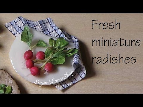 Miniature Food; Radish Tutorial - Polymer Clay Tutorial - YouTube