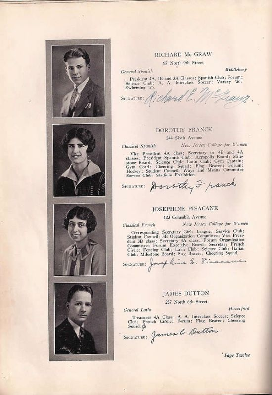 Language In 45 And 47 Stella Street: Barringer High School - 1927 Yearbook