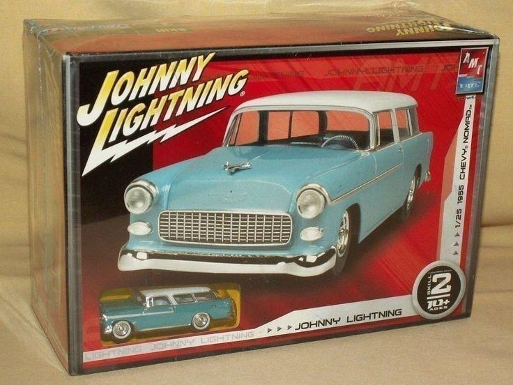 NOMAD 1955 AMT ERTL JOHNNY LIGHTNING CHEVY CHEVROLET 1/64 SCALE TEAL CAR MODEL. #AMT #Chevrolet