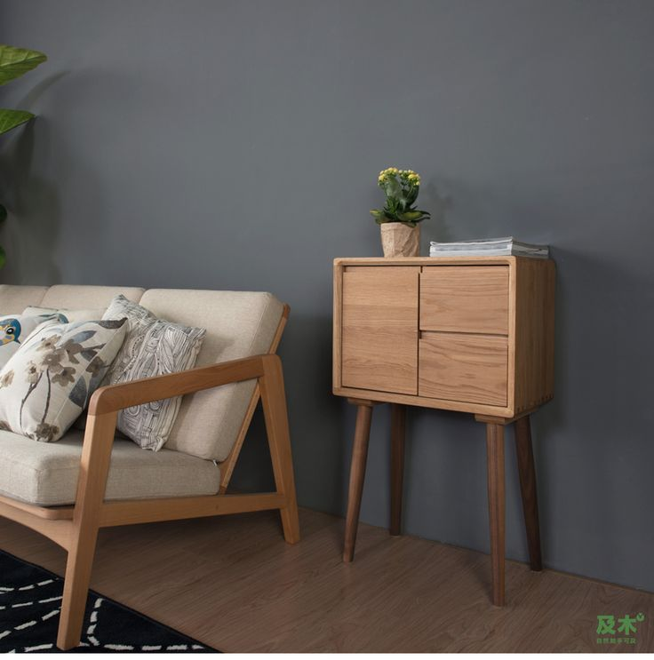 Nordic minimalist furniture and wood beech wood white oak black walnut wood living room accommodating small Sideboard DG011-tmall.com Lynx