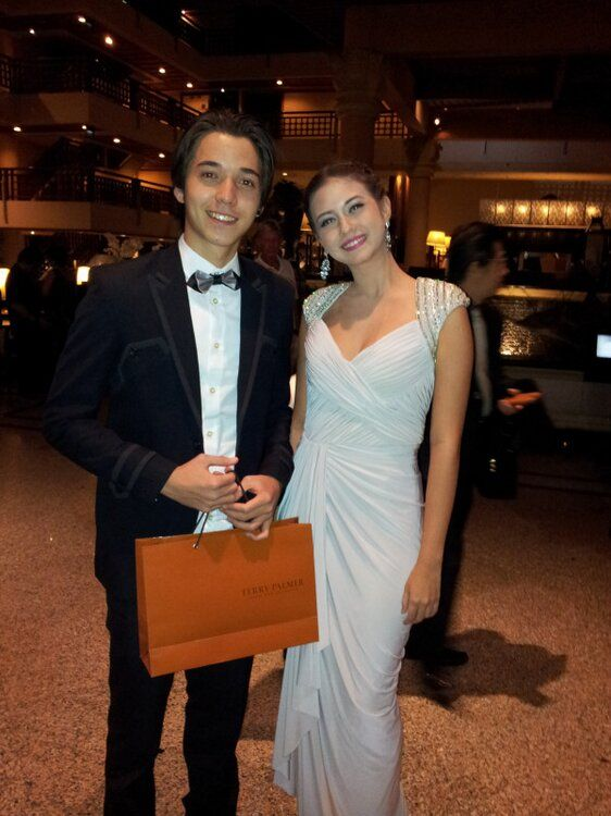 Yuki Kato and Stefan William in Opening Show Miss World 2013