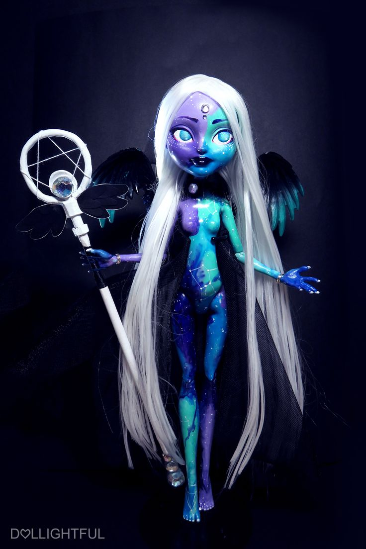 Nova, the Galaxy Goddess. Custom OOAK Monster High Ever After High doll by Dollightful