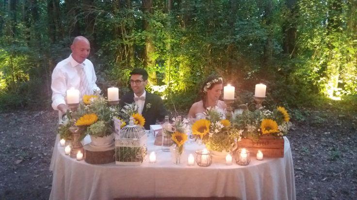 allestimento tavolo sposi - table - flowers
