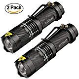 #3: Rockbirds LED Flashlight A100 Mini Super Bright 3 Mode Tactical Flashlight Best Tools for Hiking Hunting Fishing and Camping (2 Pack) #FabOffers #FabBestSellers #Home #Kitchen