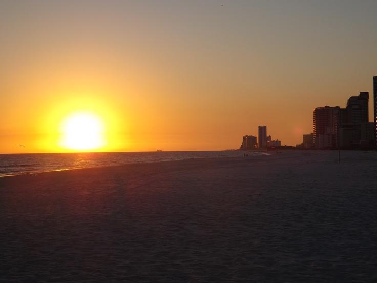 Orange beach Sunset!