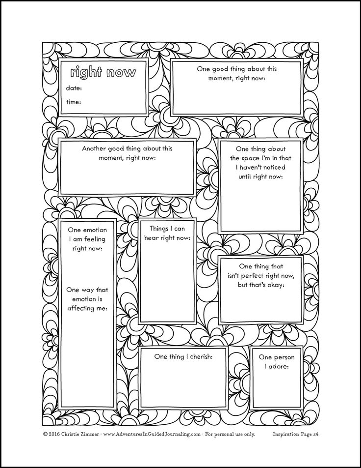 Experimenting In Your Journal (and a new printable journal page) Adventures in Guided Journaling
